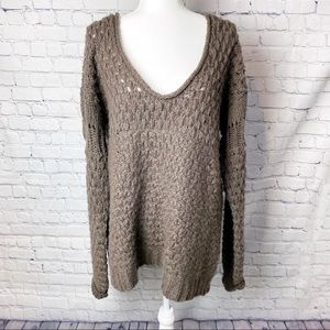 Free People Crashing Waves pullover chunky sweater